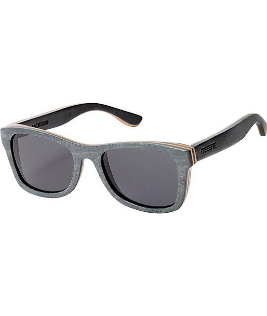 Cassette Jackson Black & Grey Skate Wood Sunglasses