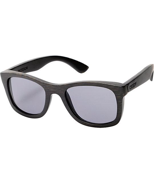 Cassette Jackson Black Bamboo Sunglasses