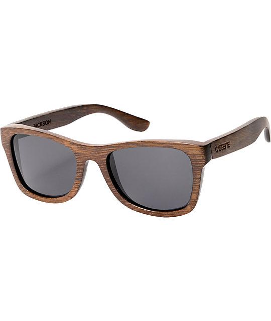 Cassette Jackson Brown Bamboo Sunglasses