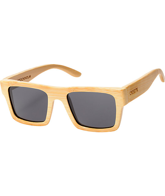 Cassette Stockholm Natural Bamboo Sunglasses