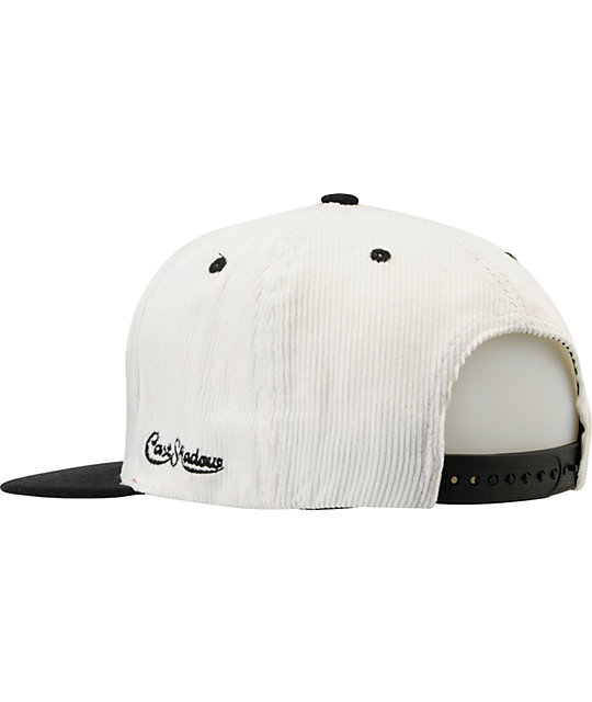 Cast Shadow Feather White & Black Snapback