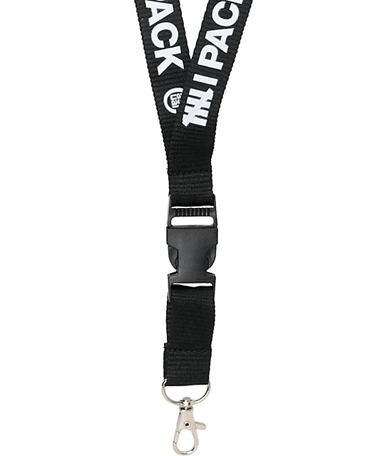 Casual Industrees 6 Pack Black Lanyard