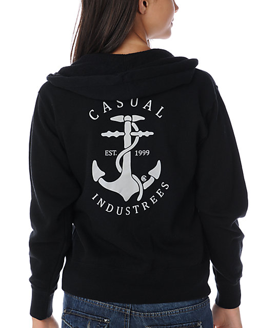 Casual Industrees Anchor Black Hoodie