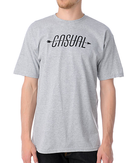 Casual Industrees Arrow Logo Heather Grey T-Shirt