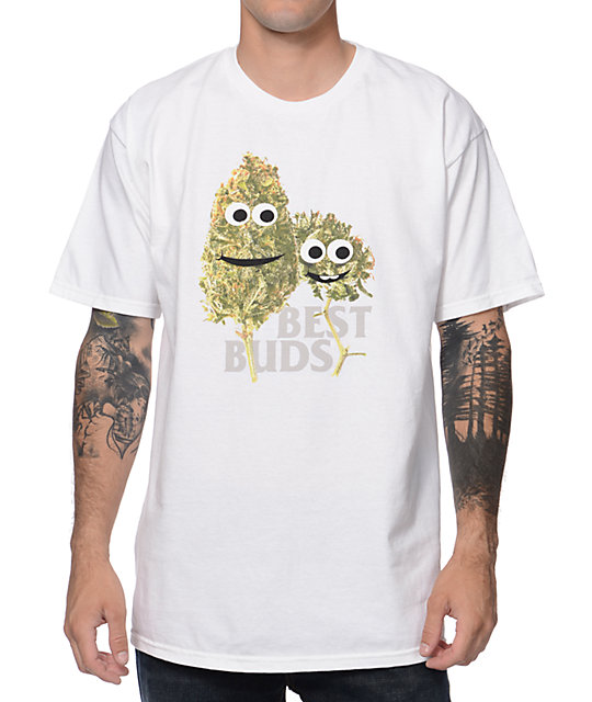 Casual Industrees Best Buds White T-Shirt