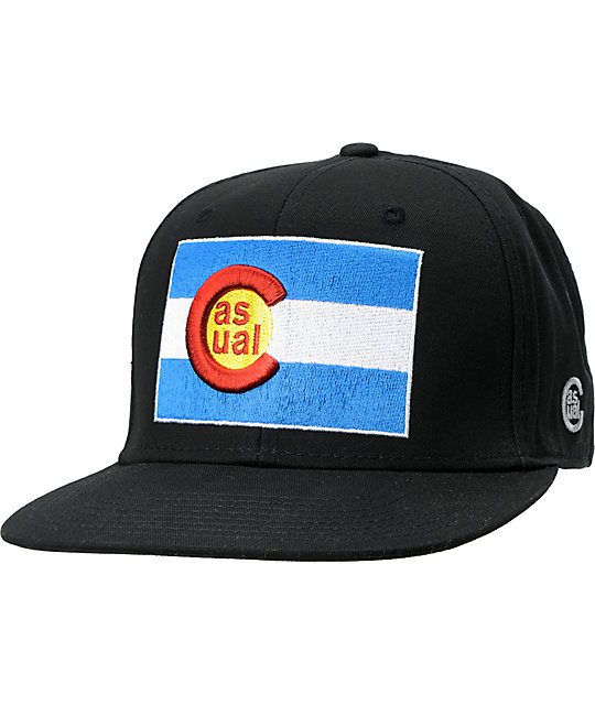 Casual Industrees Co Flag Black Snapback Hat