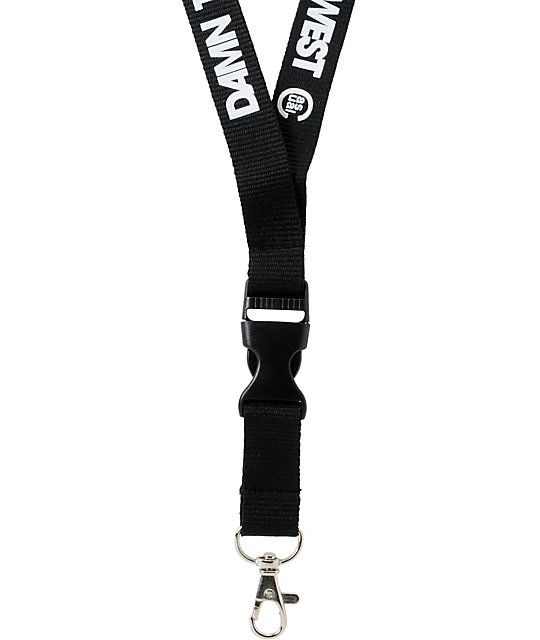 Casual Industrees Damn The Rest Black Lanyard