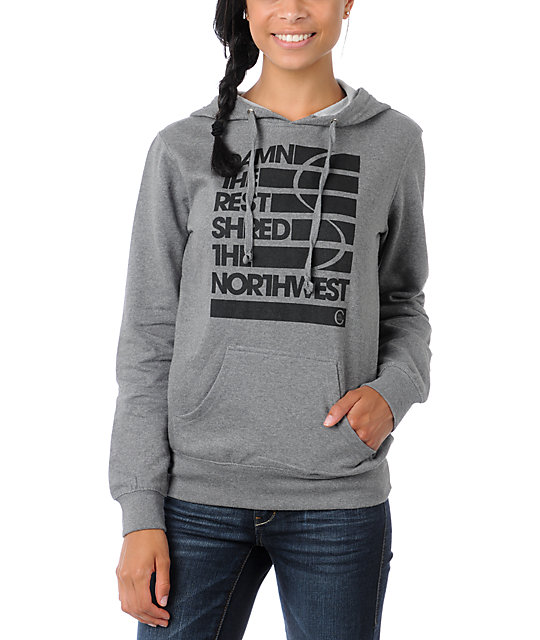Casual Industrees Damn The Rest Grey Pullover Hoodie