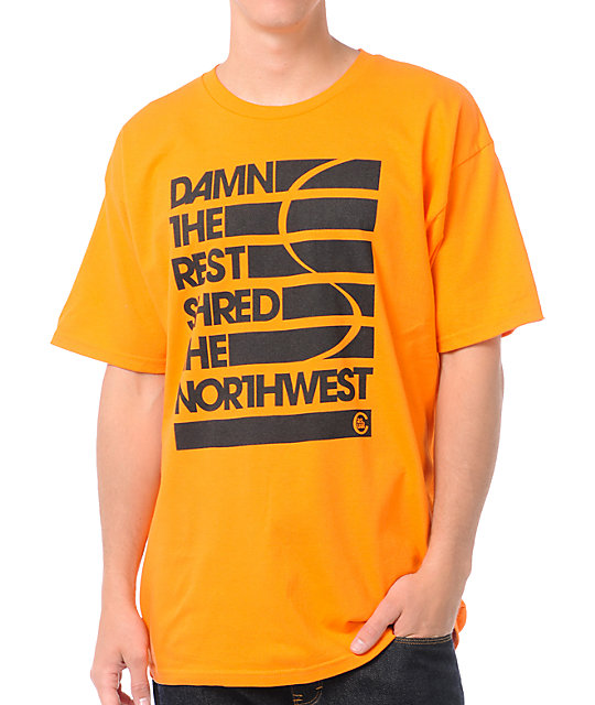 Casual Industrees Damn The Rest Orange T-Shirt