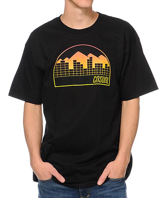 Casual Industrees Denver Fade Black T-Shirt