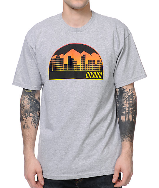 Casual Industrees Denver Fade Heather Grey T-Shirt