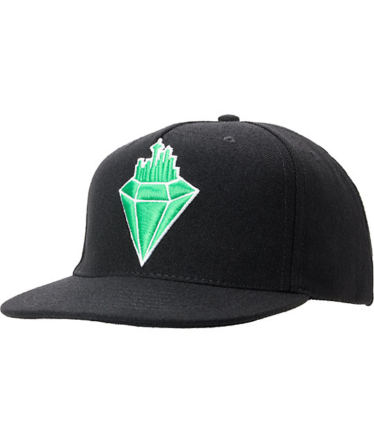 Casual Industrees Emerald City Black Snapback Hat