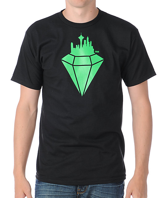 Casual Industrees Emerald City Black T-Shirt