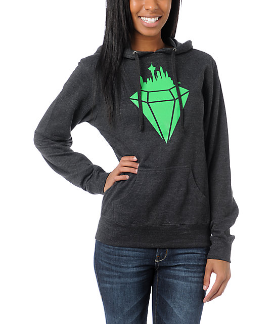 Casual Industrees Emerald City Charcoal Pullover Hoodie