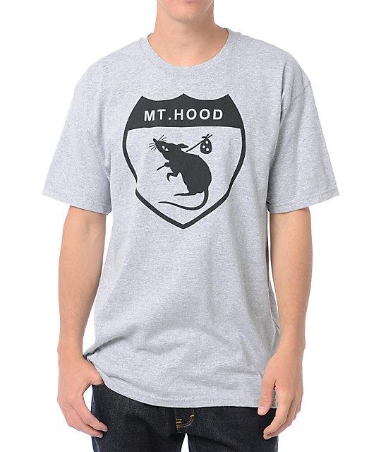 Casual Industrees Hood Rat Heather Grey T-Shirt