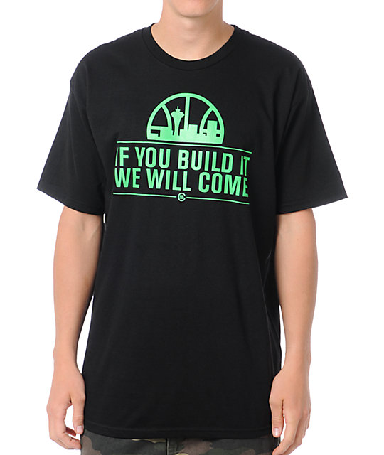 Casual Industrees If You Build It Black T-Shirt