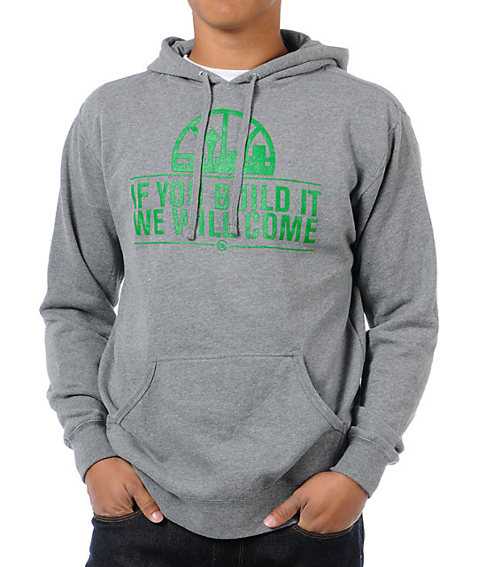 Casual Industrees If You Build It Heather Grey Pullover Hoodie
