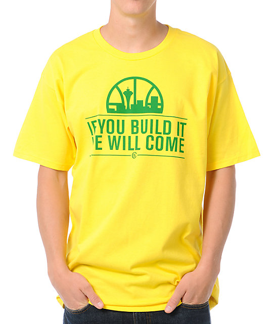 Casual Industrees If You Build It Yellow T-Shirt