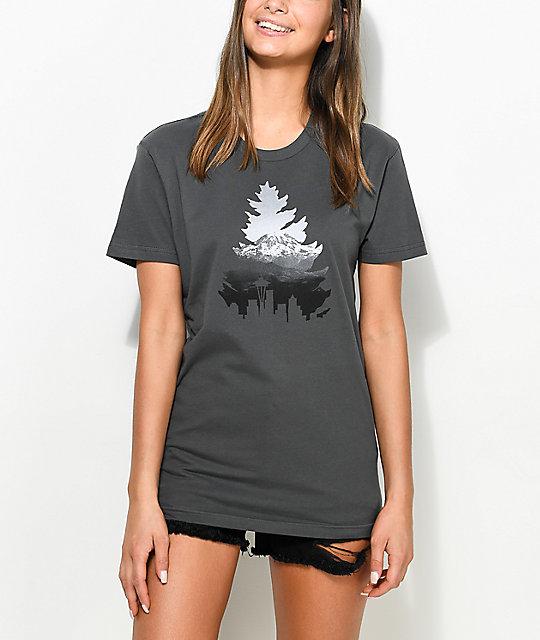 Casual Industrees Johnny Tree Rainier Metal Grey T-Shirt