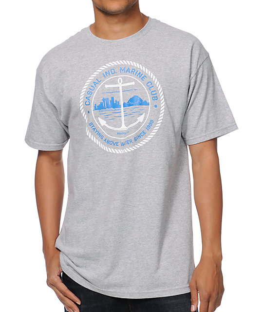 Casual Industrees Marine Club Grey T-Shirt