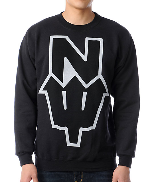 Casual Industrees N Dub Black Crew Neck Sweatshirt