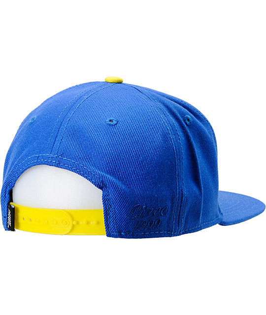 Casual Industrees N.Dub Blue & Yellow Snapback Hat