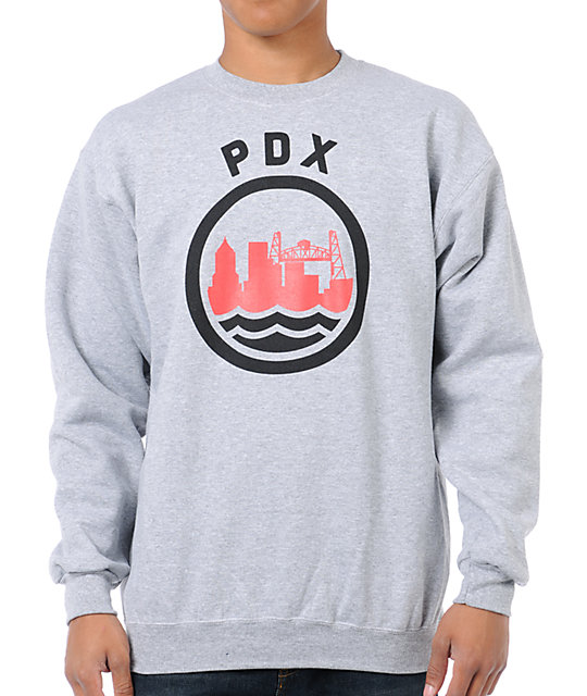 Casual Industrees PDX Heather Grey Crew Neck Sweatshirt