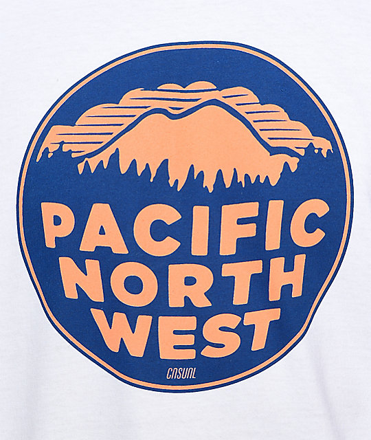 Casual Industrees PNW 2 Color White T-Shirt