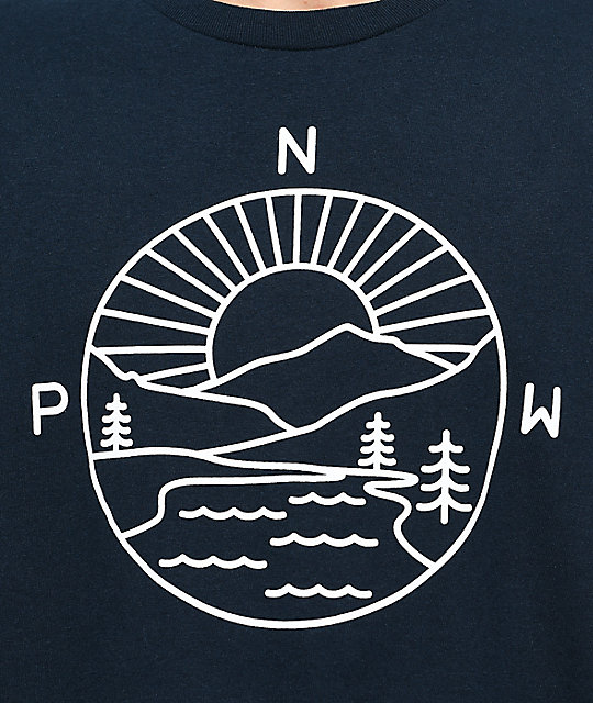 Casual Industrees PNW Explorer Navy Long Sleeve T-Shirt