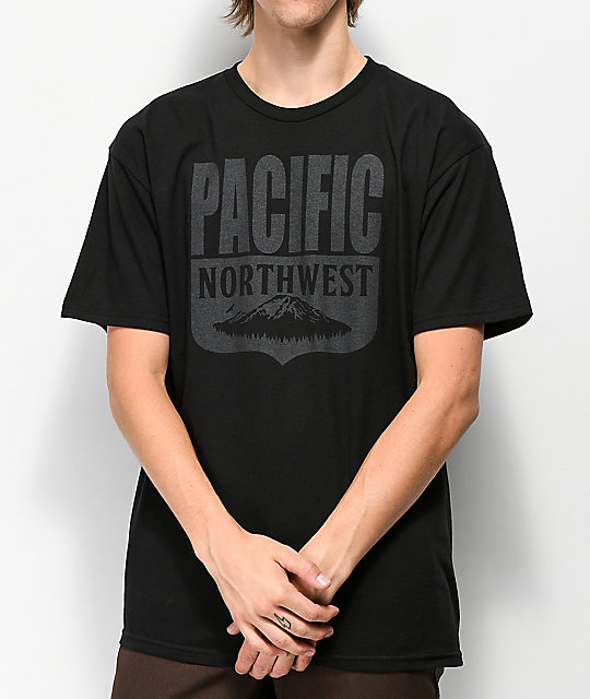 Pnw Shield Camiseta Industrees Negra Casual YeH2IE9WD