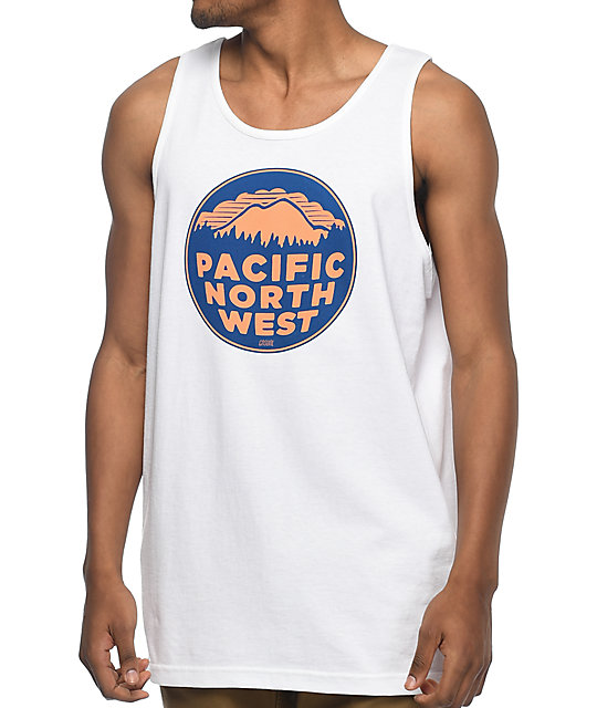 Casual Industrees PNW White Tank Top