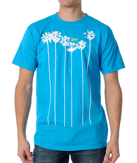 Casual Industrees Palms Teal T-Shirt