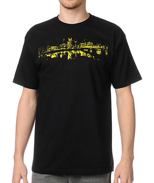 Casual Industrees Portland Skylight Black T-Shirt