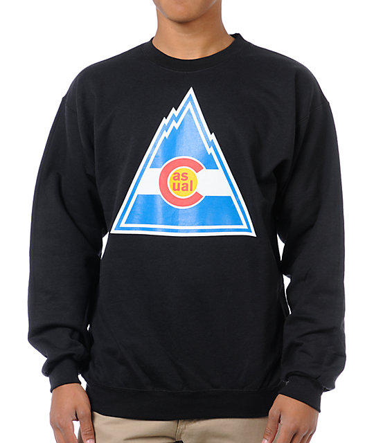 Casual Industrees Rockies Black Crew Neck Sweatshirt