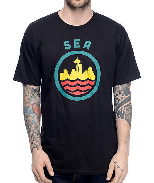 Casual Industrees SEA Seatown Classic Black T-Shirt
