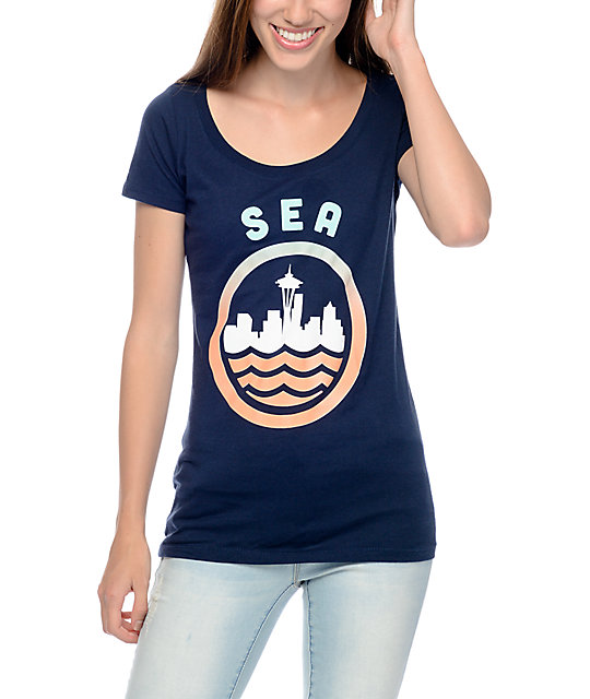 Casual Industrees Sea Fade Navy T-Shirt
