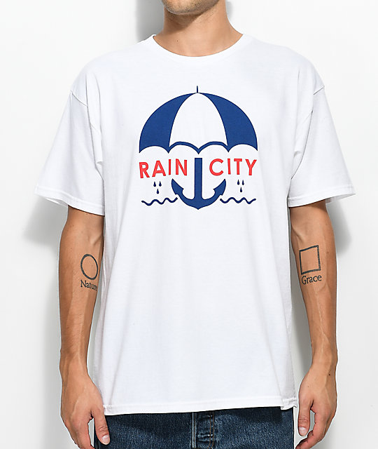 Casual Industrees Sea Rain City White T-Shirt