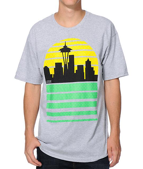 Casual Industrees Sea Sky Grey T-Shirt