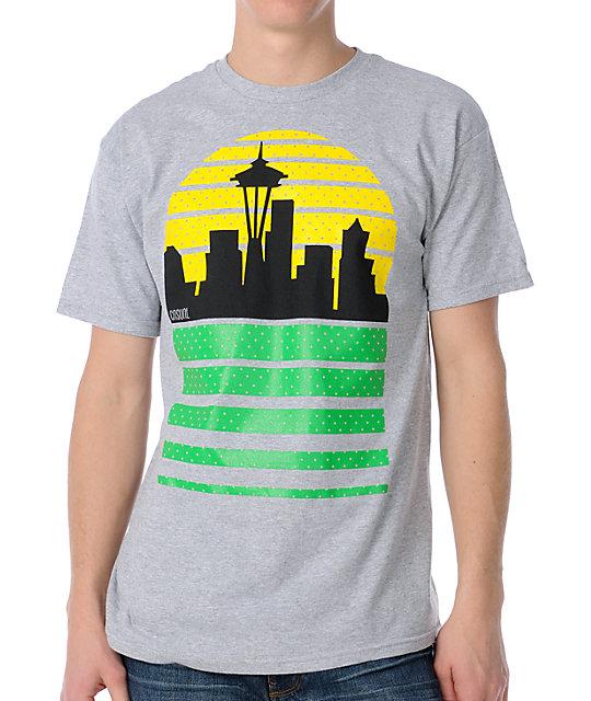 Casual Industrees Sea Skyline Grey T-Shirt