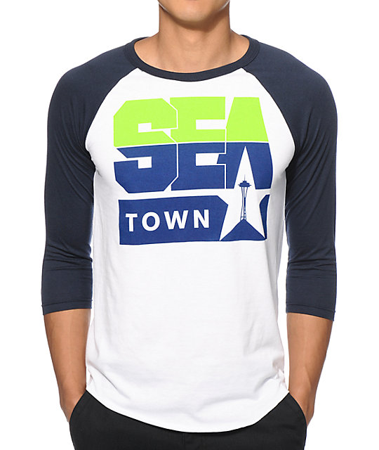 Casual Industrees Sea Town Baseball T-Shirt