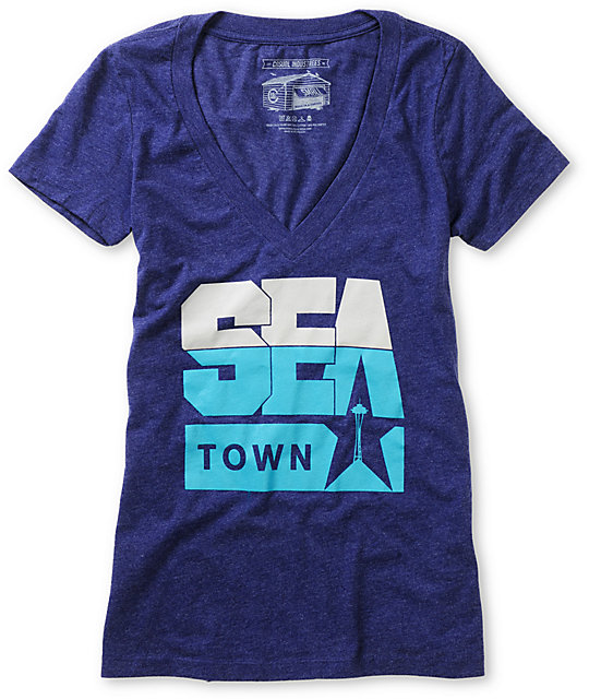 Casual Industrees Sea Town Navy Blue T-Shirt