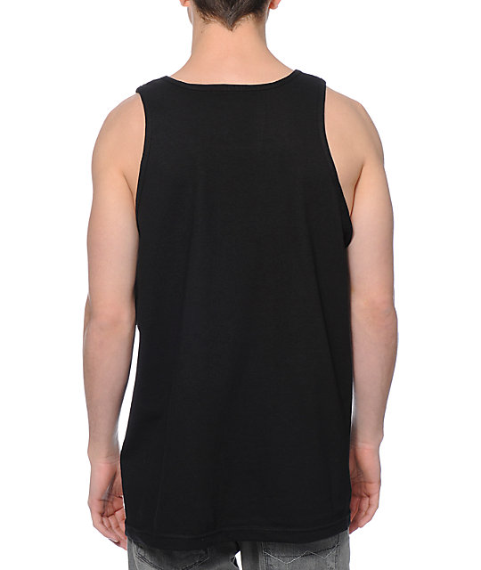 Casual Industrees Seattle Shadow Skyline Black Tank Top