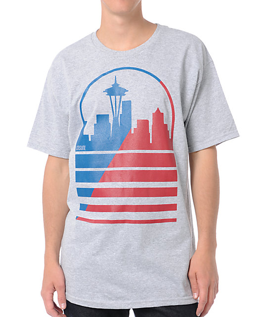 Casual Industrees Seattle Shadow Skyline Grey T-Shirt