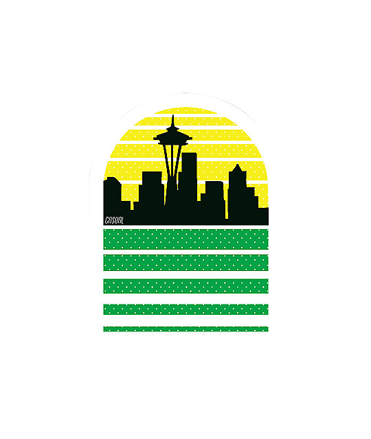 Casual Industrees Seattle Sky Sticker