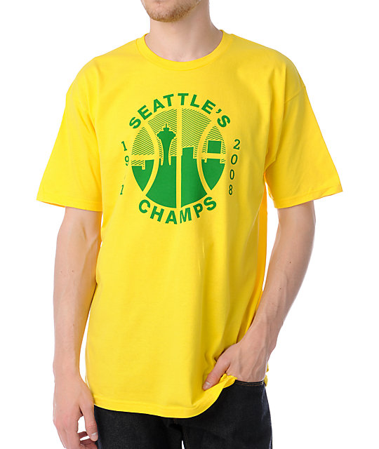 Casual Industrees Seattles Champs Yellow T-Shirt