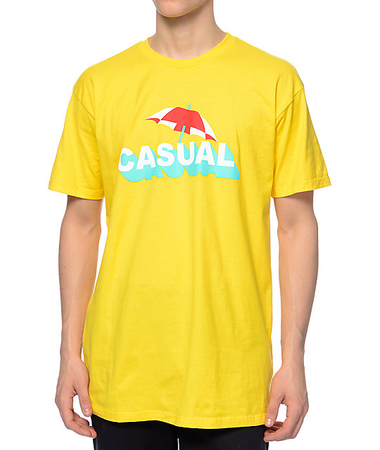Casual Industrees Shade Yellow T-Shirt