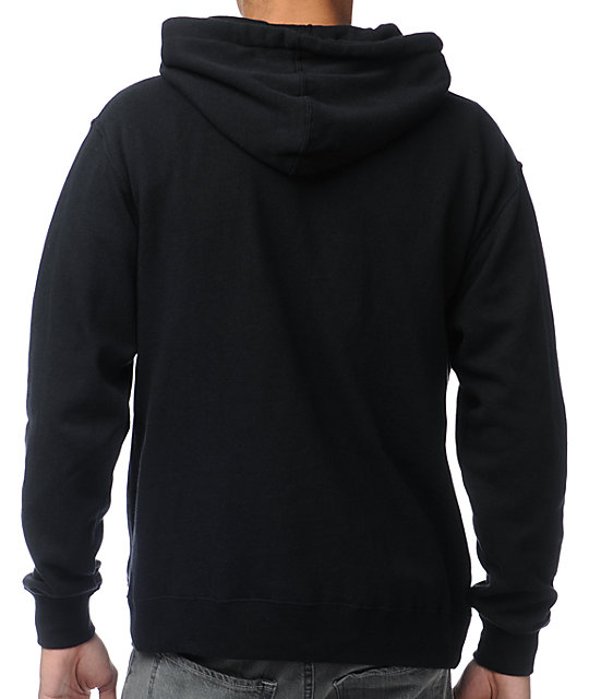 Casual Industrees Sky Light Black Pullover Hoodie