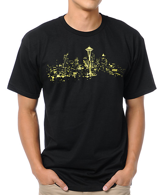 Casual Industrees Sky Light Black T-Shirt