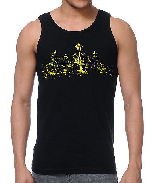 Casual Industrees Skylight Black Tank Top
