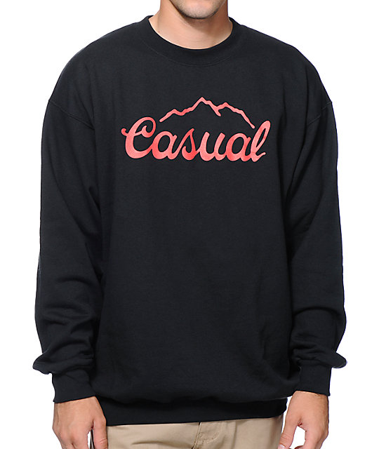 Casual Industrees Tap The Mountain Black Crew Neck Sweatshirt